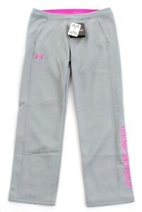 Under Armour Storm UA Armour Fleece Gray & Pink Athletic Pants Youth Girl's NWT