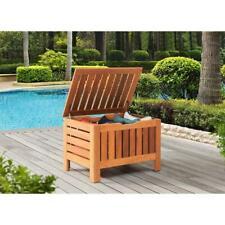 Hampton Bay Indoor Outdoor Wood Deck Box Hardwood Finish Storage Bag
