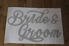 BRIDE AND GROOM CAR/WINDOW STICKERS PACK OF 2