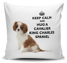 Keep Calm And Hug A Cavalier King Charles Spaniel Cushion Cover - 40cm x 40cm