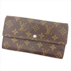 Louis Vuitton Wallet Purse Long Wallet Monogram Brown Woman Authentic Used E464