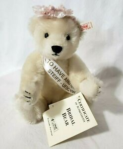 1997 Steiff UFDC Bridal Bear To Have To Hold Mohair Jointed Ltd. Ed Wedding Tags