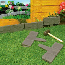 Lawn Garden Edging Border Cobble Effect Stone Plastic Plant Border Fence