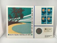 South Pacific Festival of Arts Hutt Commemorative Stamps Coin Fiji 1972