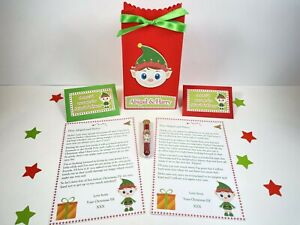 Personalised Elf Arrival & Goodbye Letters, Gift Bag And Elf Dust