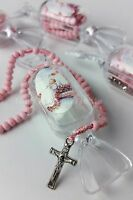 12 Baptism Favors Cross Candy Rosary Keepsake Bautizo Recuerdos Rosario
