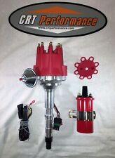 AMC V8 SMALL CAP HEI DISTRIBUTOR RED + 45K COIL 290 304 343 360 390 401 JEEP