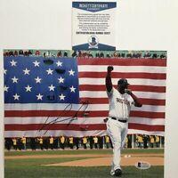 Autographed/Signed DAVID ORTIZ Boston Red Sox 8x10 Baseball Photo Beckett COA