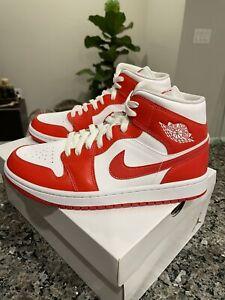 Nike Air Jordan 1 Mid Syracuse BQ6472-116 Size 9.5 Women. Fast Free Shipping!