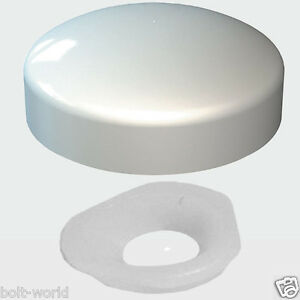 2 PIECE PLASTIC DOME SCREW COVER CAP CHROME WHITE BLACK BROWN - PLASTIDOME CAPS