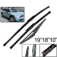 """Front Rear Windshield Wiper Blades For Mini Cooper R56 Hatch 2012 2013 19""""18""""10"""""""