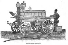 Merryweather's Fire Engine - Antique Print 1851