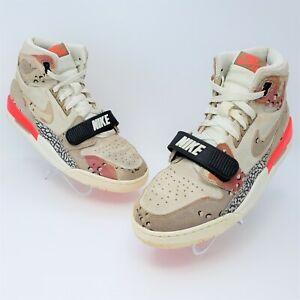 Nike Air Jordan Legacy 312 Mens Desert Camo Infrared 23 Shoes Sz 9.5 AV3922-126