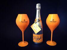Veuve Clicquot 'Rich' Champagner 0,75l 12% Vol + 2 Rich Acryl Gläser Flutes