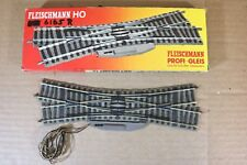 FLEISCHMANN 6165 PROFI GLEIS RIGHT HAND 4 WAY ELECTRIC CROSSING POINT TRACK nn