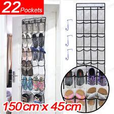 22 Pockets Over Door Clear Oxford Cloth Shoe organiser Storage Rack