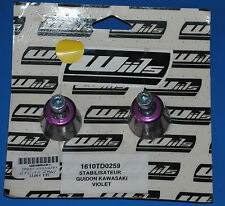 2 embouts de guidon universel Violet Wiils neuf