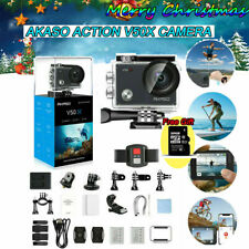 2020 4K AKASO V50X Action Camera WiFi W/ EIS Touch Screen Camcorder +32G TF Card