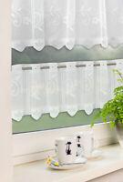 Scheibengardine Bistrogardine Jacquard Sets Küchengardine weiß Panneaux 2305