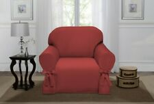 New Madison Lucerne Chair Slipcover, Burgundy Red- Machine Washable