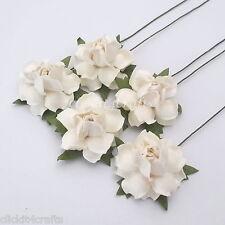 50 White Mulberry Paper Flower Wedding Centerpiece Scrapbook Card Decor R19-15