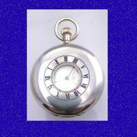 WW1 Vintage Silver Waltham Liverpool 15 J Earl Half Hunter Pocket Watch 1914