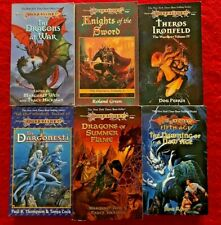 DRAGONLANCE 6 FANTASY BOOK LOT! TSR, 1995-96, WEIS, HICKMAN, PERRIN! NO RESERVE!