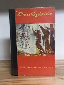 Don Quixote De La Mancha Saavedra 1946 w/ Clear DJ Dali Illustrations GOOD