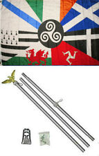 3x5 Celtic Nations Flag Aluminum Pole Kit Set 3'x5'