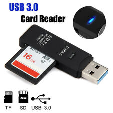 Black 2 in 1 USB 3.0 High Speed Micro SD SDXC TF Memory Card Reader Adapter