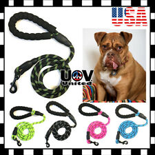 For Large Dog Puppy Walking Hiking Lead Rope Leash Reflective Training Pads UU