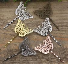 Horquilla pelo mariposa color bronce 2 unid