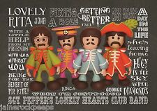 Inspired by Beatles Sgt Pepper's Lonely Hearts Club Band Greeting Birthday Card