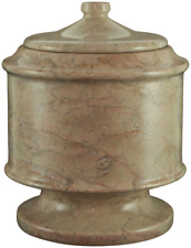 Large 145 Cubic Inch Brown Lasting Tribute Cameo Marble Pet Cremation Urn