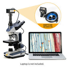 SWIFT 40X-2500X Trinocular Compound Microscope With 16MP USB3.0 Digital Camera