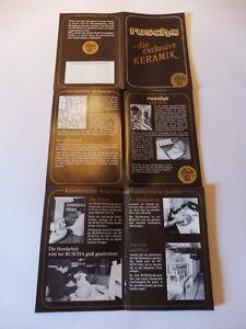 Ruscha Keramik  Broschüre der Firmengeschichten NEU