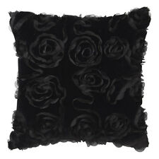 ROSA BLACK Square Filled Cushion 41cm x 41cm Ultima Logan & Mason