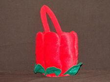 SOFT RED TULIP PETAL PURSE BAG BASKET BETA TOYS PLUSH STUFFED ANIMAL FLOWER