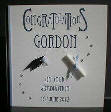 HANDMADE PERSONALISED GRADUATION CONGRATULATIONS CARD UNIVERSITY MALE FEMALE