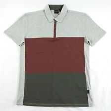 Hugo Boss GR-Lentella Collared Maroon-Gray T-Shirt Sz. M BNWT 100% Authentic
