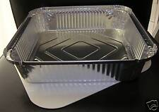 10 x No9 ALUMINIUM FOIL FOOD STORAGE CONTAINERS TRAYS + LIDS