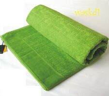 FENDI lime green TERRYCLOTH signature FF Zucca BEACH Towel Blanket NWT Authentic