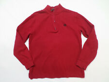 Chaps Red 1/4 Zip Long Sleeve Sweater Boy's Size Large (14/16)
