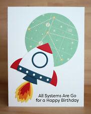 Handmade ALL SYSTEMS ARE GO  birthday space rocket card kit made w/ MFT & SU