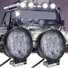 2x 27W LED work flood square Light 12V 24V Off road Truck 4x4 Boat SUV lamp Jeep
