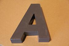 lettre d'enseigne métal h: 19,5cm environ prof: 5cm déco loft industriel atelier
