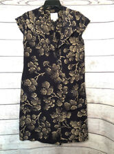 Anthropologie Maeve winter tree silk wrap dress size 6