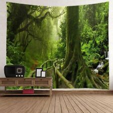 Psychedelic Forest Tapestry Wall Hanging Bedspread Living Room Cover Home Decor