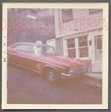 Vintage Car Photo RED 1966 Chevrolet Chevy Impala Automobile on Hill 716397