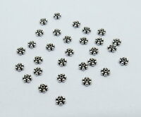 20 Pieces 925 Sterling Silver Beads SCap Bali Silver Beads Star Cap 5mm Round